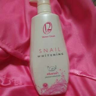 Snail Whitening Shower Cream From Thailand (Set of 2)