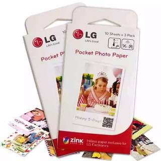LG pocket printer photo paper