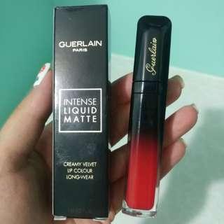 Guerlain Intense Liquid Matte霧面柔潤唇彩7ml (M25 Sedctive Red)