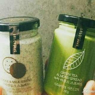 韓國【Spread101】抹醬  OREO牛奶口味  抹茶杏仁口味