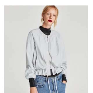 Zara全新灰色風行外套