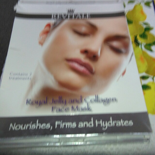 2 Royal jelly and collagen face masks,ten dollars each or 2 for $15