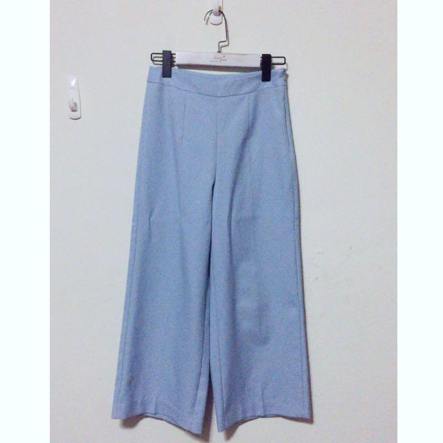 韓挺版粉嫩藍西裝褲