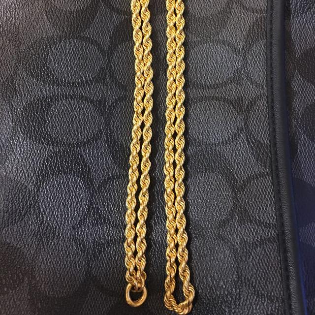 二兩純金麻花項鍊