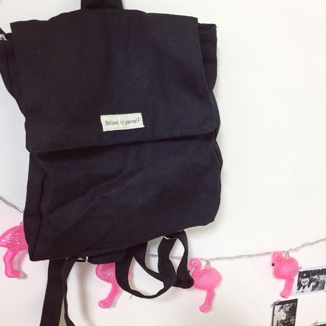 文青英文字母後背包 後背包 帆布包