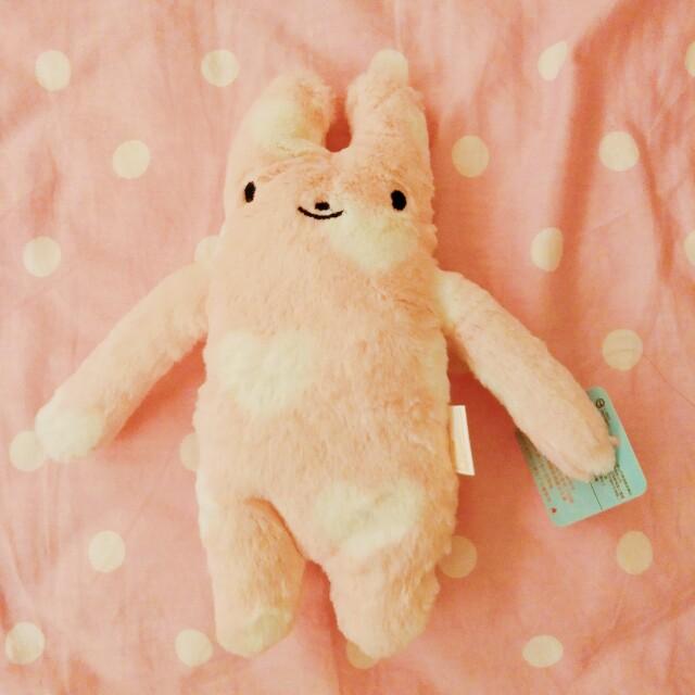 愛心 綿綿兔 娃娃
