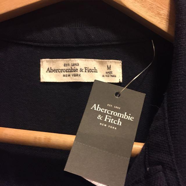 美國代購 A&F 深藍色POLO衫 百搭經典款