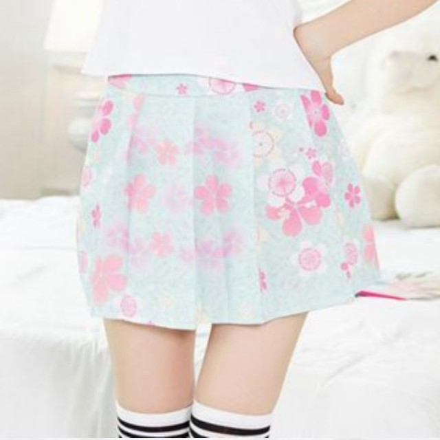 a89260c2c8 🌸 Skirt pastel blue sakura flowers cherry blossoms pleated skirt, Women's  Fashion, Clothes, Dresses & Skirts on Carousell