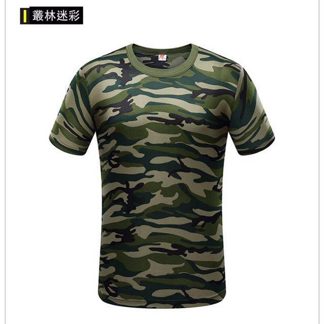 叢林迷彩服 吸濕排汗圓領T恤 <預購商品>