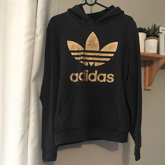 Adidas Black/gold Jumper