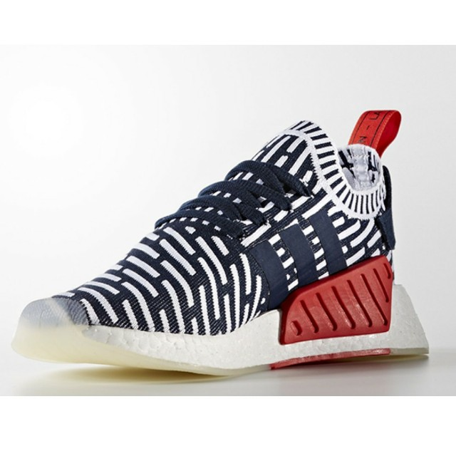 UK9 US9.5 Adidas NMD R2 PK Blue White Red 8a30a5d57