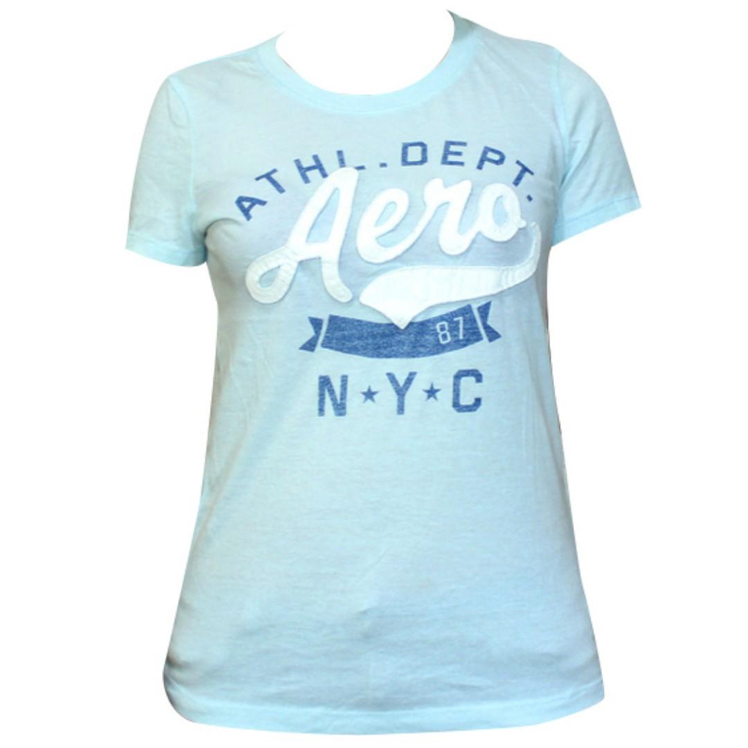 Aeropostale N.Y.C.  T-Shirt for Ladies (Pale Blue)