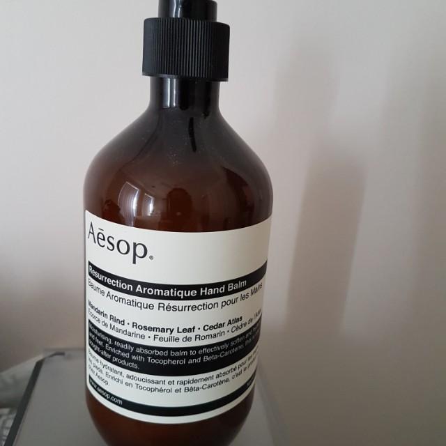 Aesop aromatique hand balm