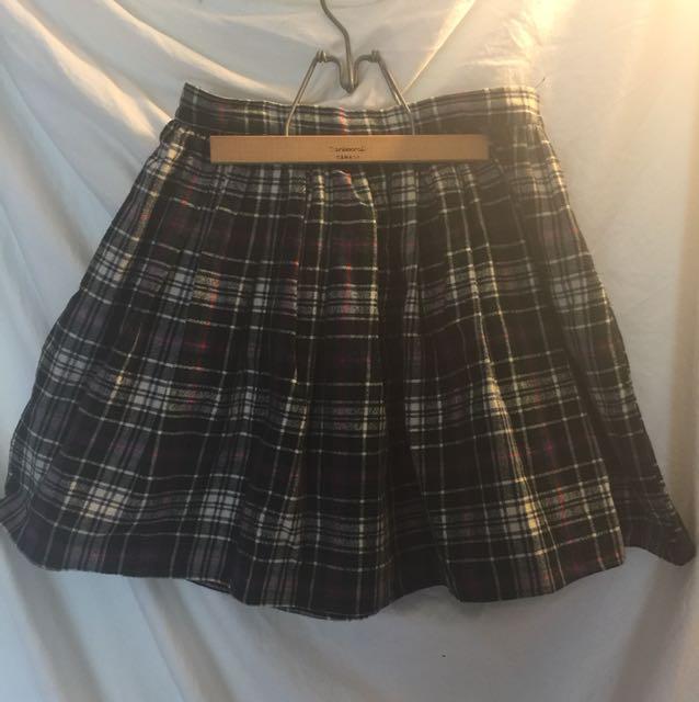 American apparel flannel skirt