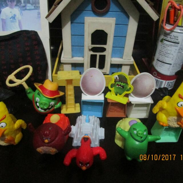 Angry Birds Mc Donald Happy Meal Toys SET 1
