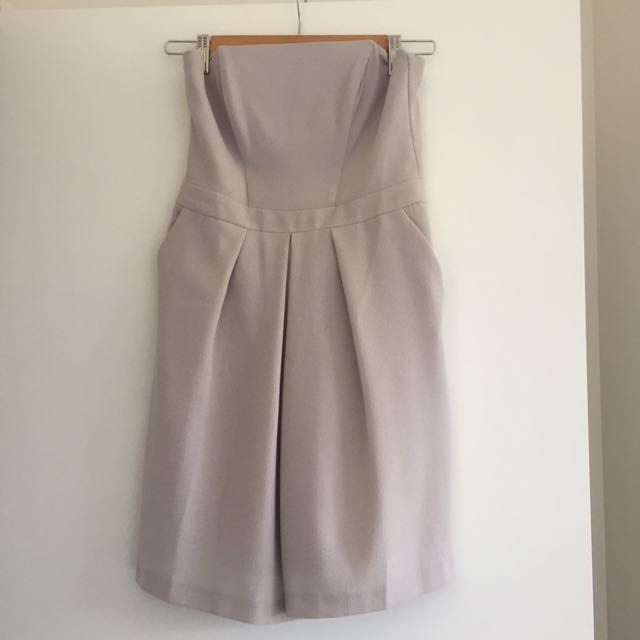 ASOS grey strapless playsuit size 8 - new with tags