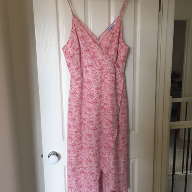 0fc1c197d6c Atmos   Here Pink Floral Summer Wrap Dress Size 16
