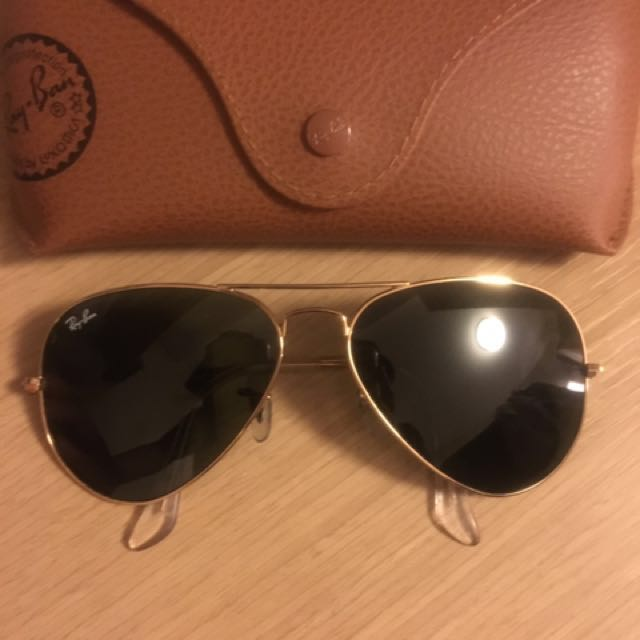 Authentic gold ray ban aviators
