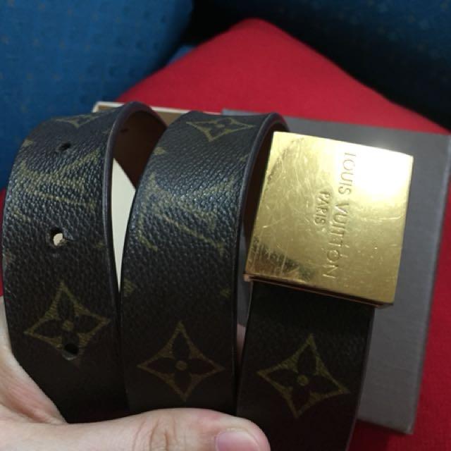 Authentic Louis Vuitton lv canvas belt