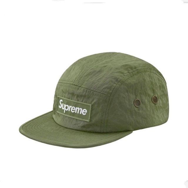 ac1144ec74e Authentic Supreme Washed Nylon Camp Cap Olive