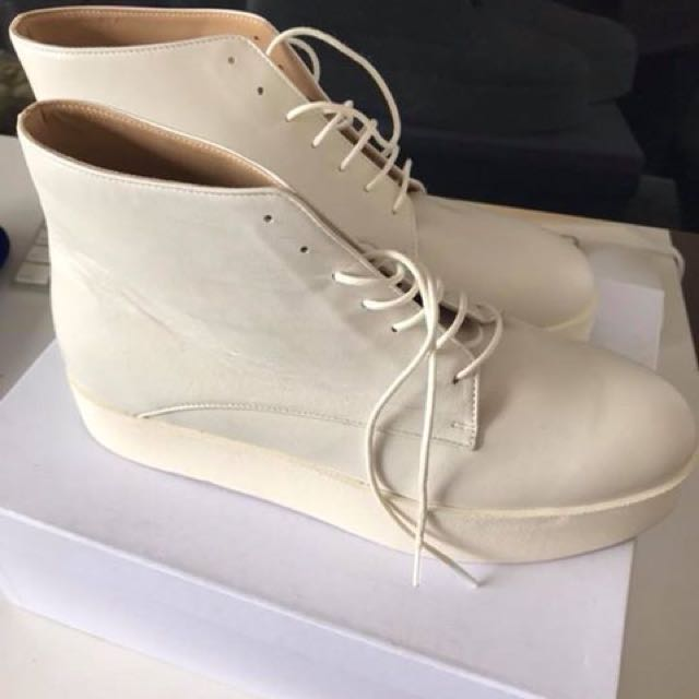 Bassike Leather Ankle Boot - Size 40