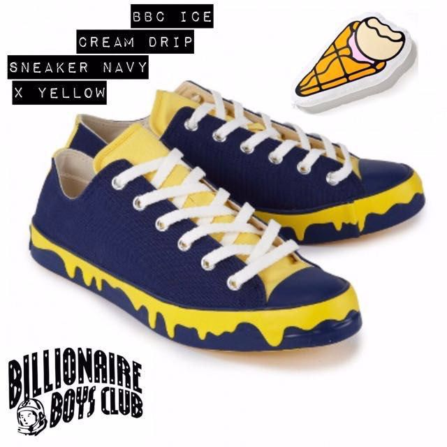 0a22091e6cb21 BBC Ice Cream Drip Sneakers Royal - Yellow UK7 US8