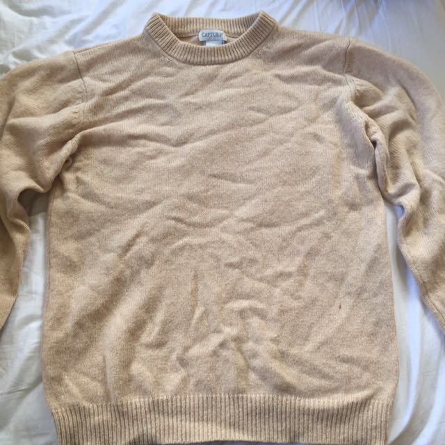 Beige turtle neck jersey