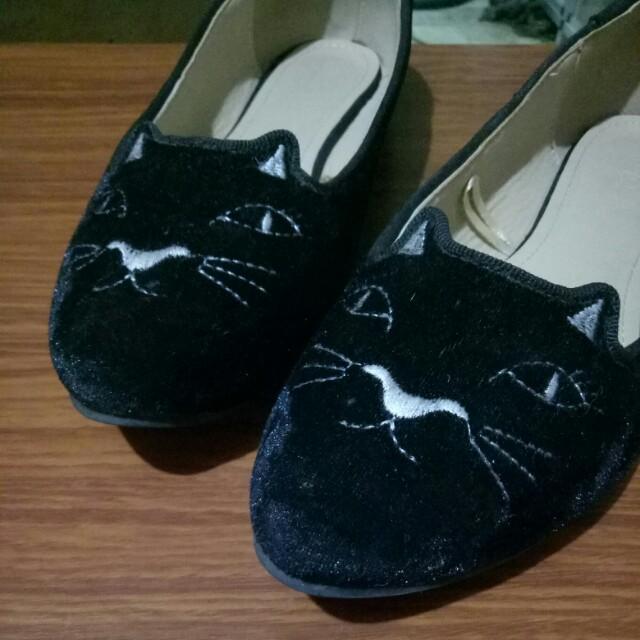 Black Cat Doll Shoes