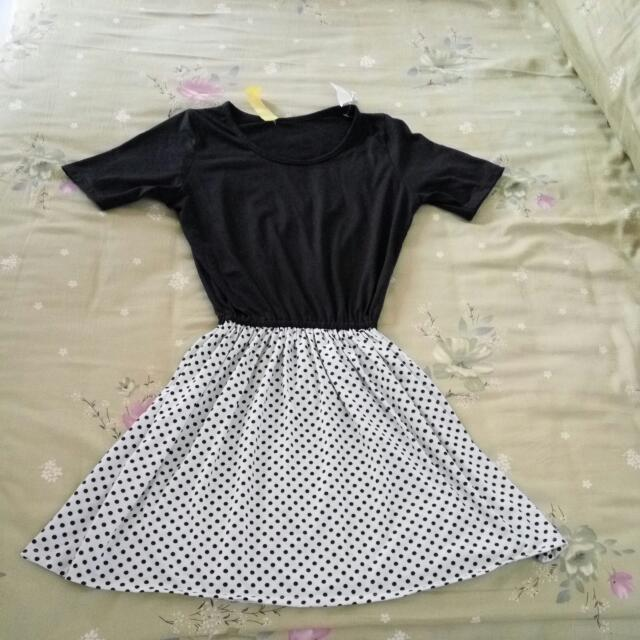 Black Polka Dress