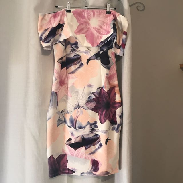 Blossom Off Shoulder Midi Dress BNWT