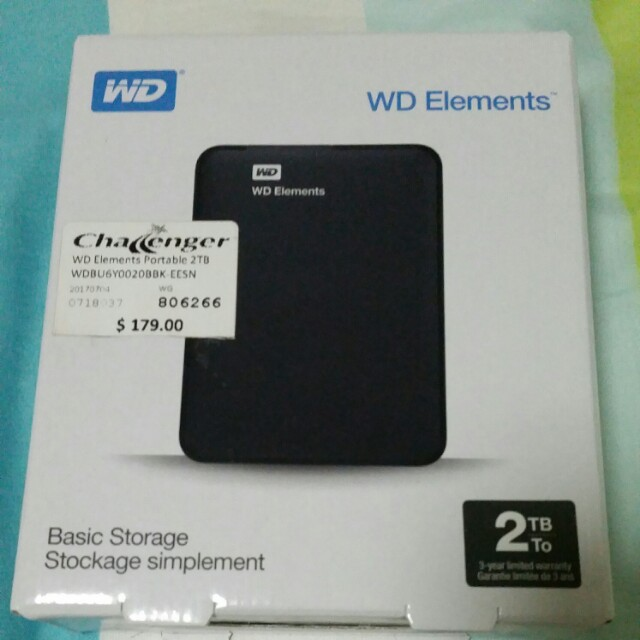 BN WD Element portable hard disk (2TB)