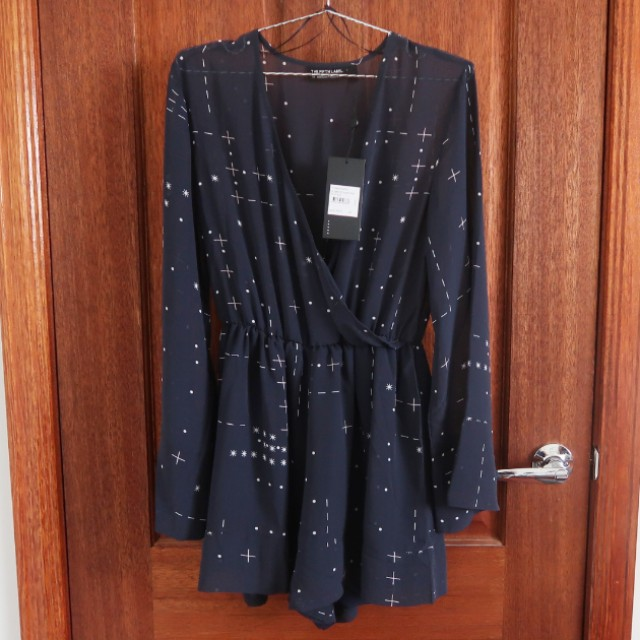 (BNWT) The Fifth Label Navy Someone Sometime Playsuit
