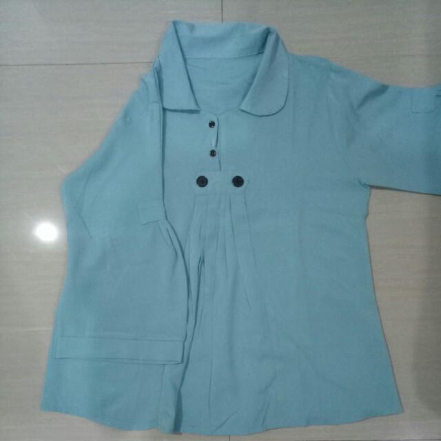 Button shirt baby blue