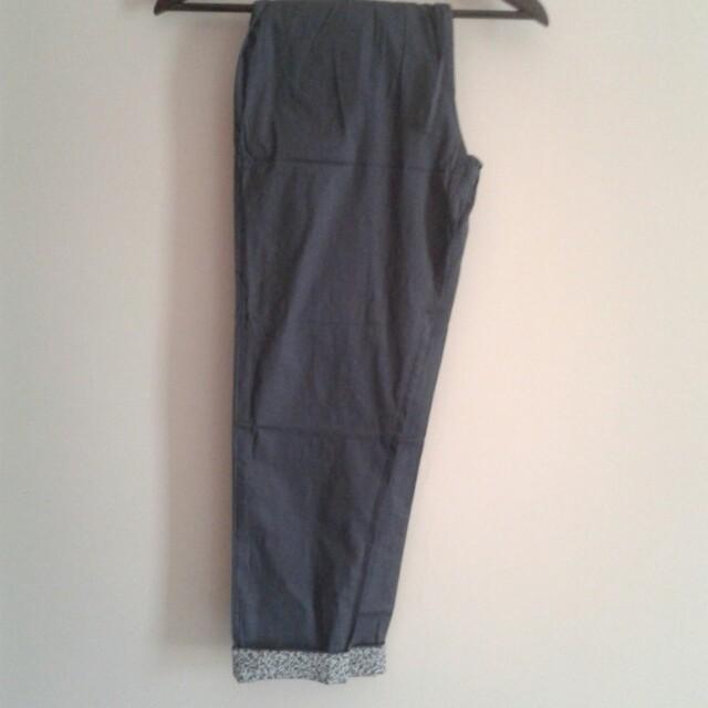 Celana Panjang Cotton Stretch Kombinasi Motif
