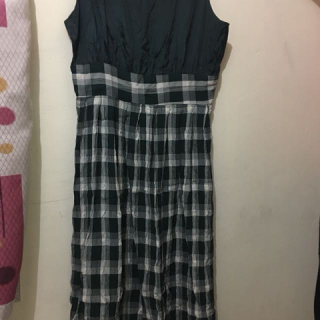 Checkered Maxi Dress (L) Pre-loved