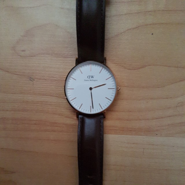 Daniel Wellington leather watch 36mm $180