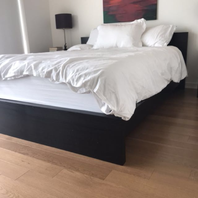 Dark brown/black ikea bed frame