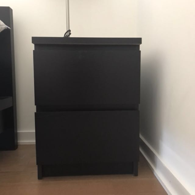 Dark brown/black IKEA nightstands (2)
