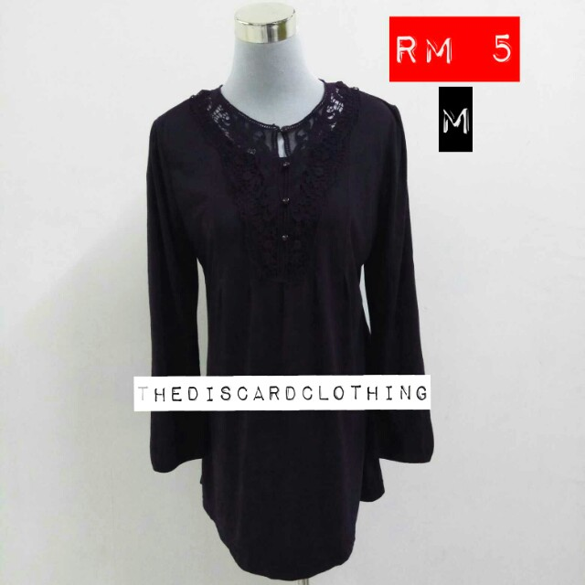 DARK PURPLE BLOUSE(VERY COMFY)