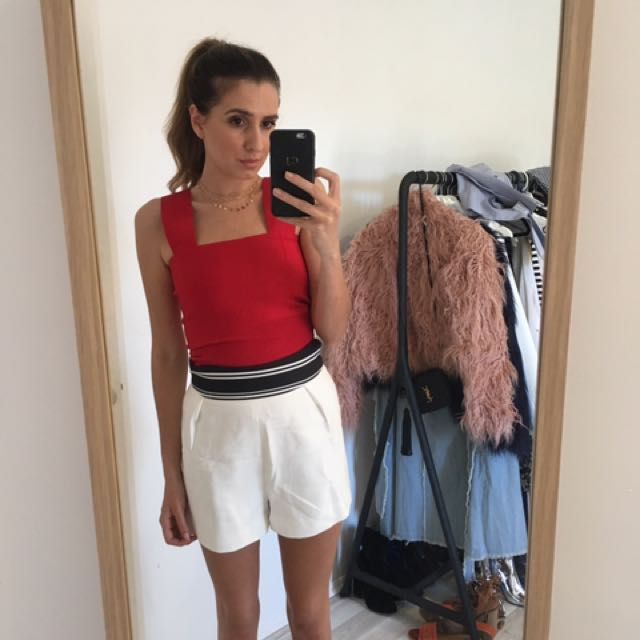 Dish red top - XS / Cmeo shorts - S