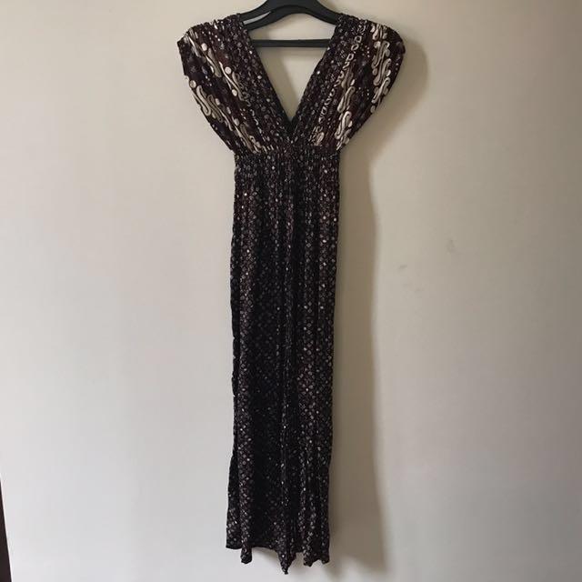 Dress batik bahan sutera - Reprice