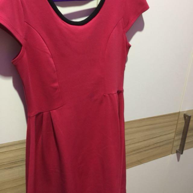 Dress pink fusia