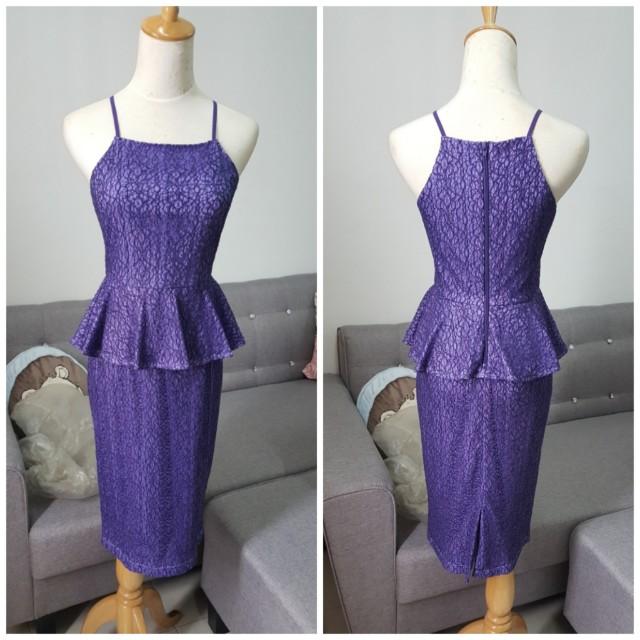 DW Lace Peplum Dress