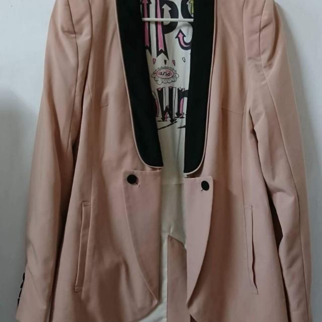 E HYPHEN 日本品牌 2WAY粉色西裝外套