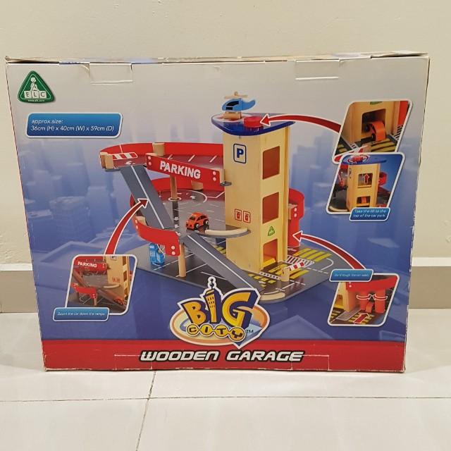 Elc Big City Wooden Garage Babies Kids Toys Walkers On Carousell
