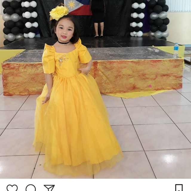 Filipiniana gown for kids, Babies & Kids, Girls\' Apparel on Carousell