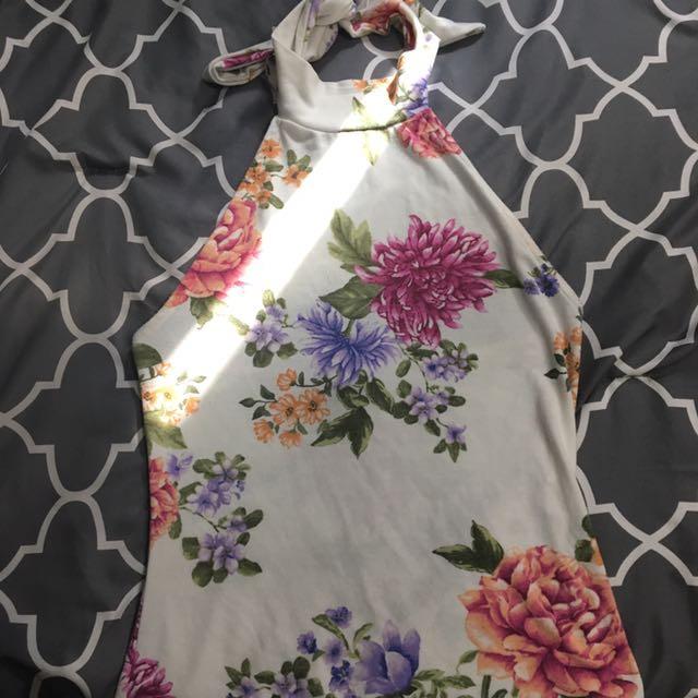 Floral Halter Top