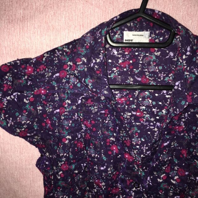 Floral office blouse (S-M)