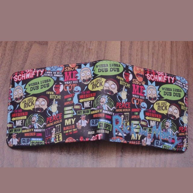 Free postage rick and morty wallet