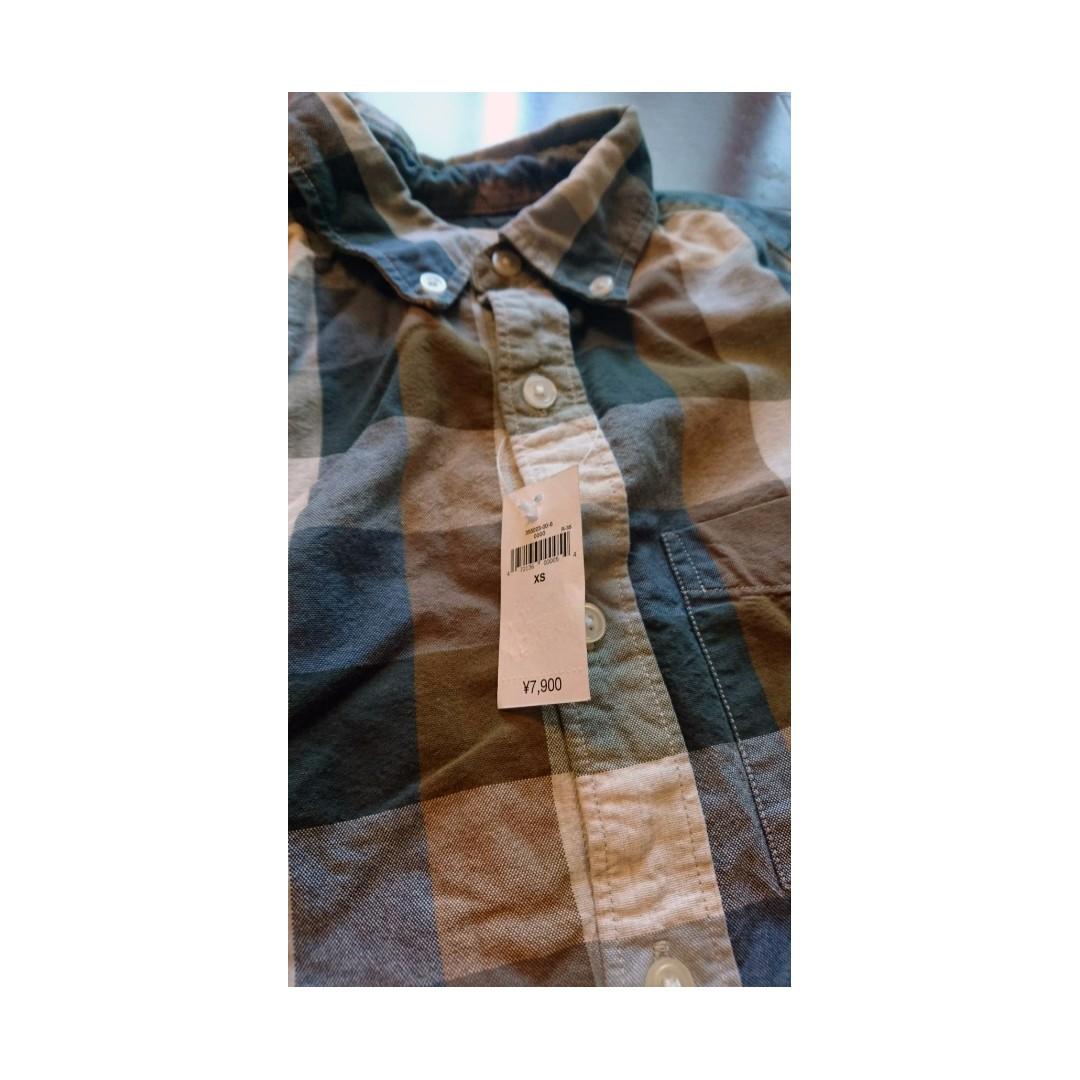 GAP 長袖 格紋襯衫 全新 XS號 標籤還在 日本入購 日本限定版! 絕對正品